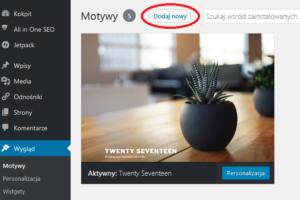 Wordpress dodaj nowy