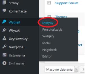 Wordpress motywy
