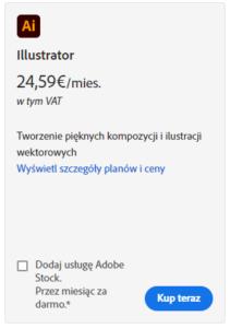 Adobe Illustrator Cena